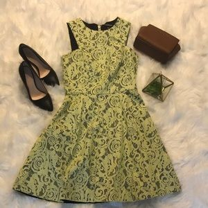 Bebe Lime Green Lace Dress